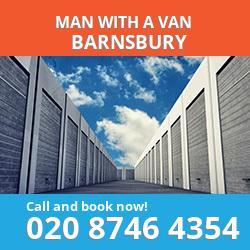N1 man with a van Barnsbury
