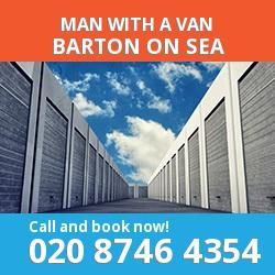 BH25 man with a van Barton-on-Sea