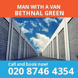 E2 man with a van Bethnal Green
