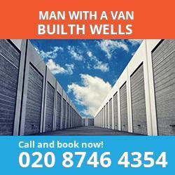 LD2 man with a van Builth Wells
