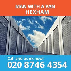 NE48 man with a van Hexham