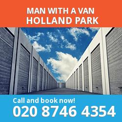 W11 man with a van Holland Park