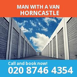 PE25 man with a van Horncastle
