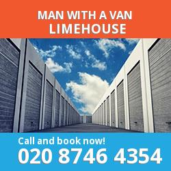 E14 man with a van Limehouse