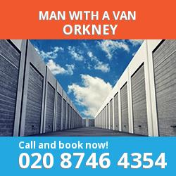 KW17 man with a van Orkney