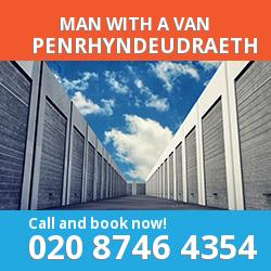 LL48 man with a van Penrhyndeudraeth