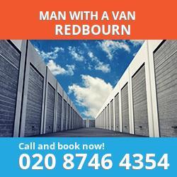 AL3 man with a van Redbourn