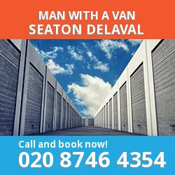 NE25 man with a van Seaton Delaval