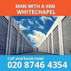 E1 man with a van Whitechapel