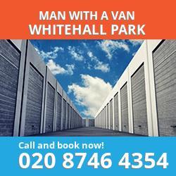 N19 man with a van Whitehall Park