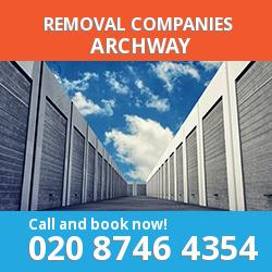 N19 removal company  Archway