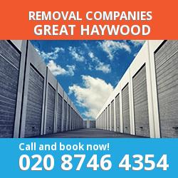 ST18 removal company  Great Haywood