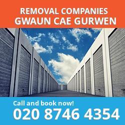 SA18 removal company  Gwaun Cae Gurwen