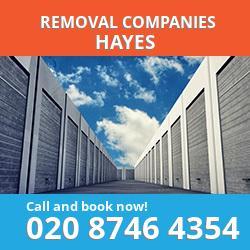UB3 removal company  Hayes