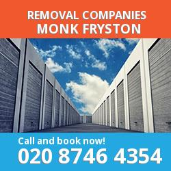 LS25 removal company  Monk Fryston
