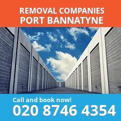 PA20 removal company  Port Bannatyne