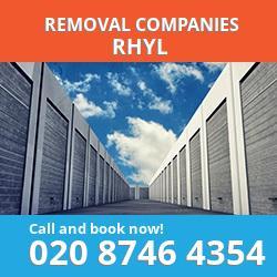 LL18 removal company  Rhyl