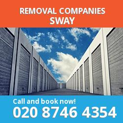 SO41 removal company  Sway