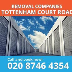 W1 removal company  Tottenham Court Road