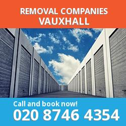 SW8 removal company  Vauxhall