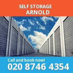 NG5 self storage in Arnold