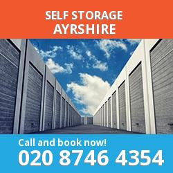 KA19 self storage in Ayrshire