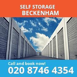 BR3 self storage in Beckenham