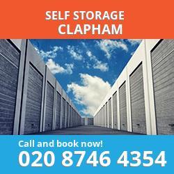 SW12 self storage in Clapham