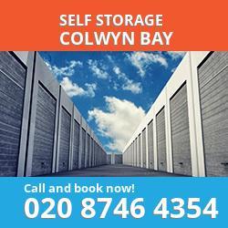 LL29 self storage in Colwyn Bay