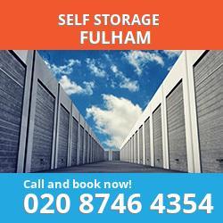 SW6 self storage in Fulham