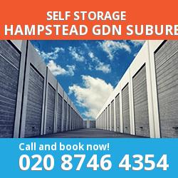NW11 self storage in Hampstead Gdn Suburb