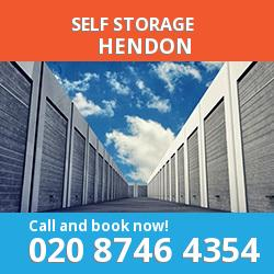 NW4 self storage in Hendon
