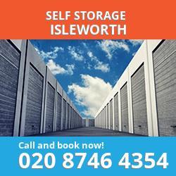 TW7 self storage in Isleworth