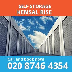 NW10 self storage in Kensal Rise