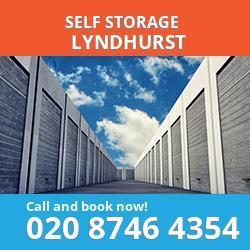 SO43 self storage in Lyndhurst