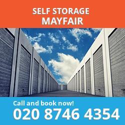 W1 self storage in Mayfair