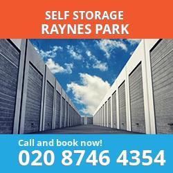 SW20 self storage in Raynes Park