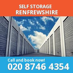 PA4 self storage in Renfrewshire