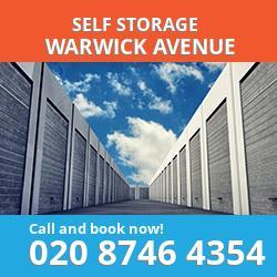 W9 self storage in Warwick Avenue