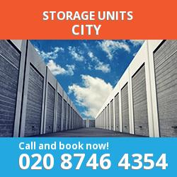 City  storage units EC4