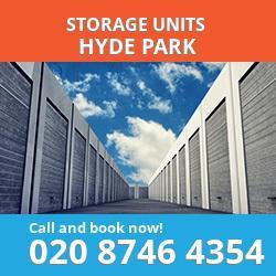 Hyde Park  storage units W2