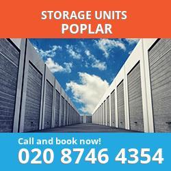 Poplar  storage units E14