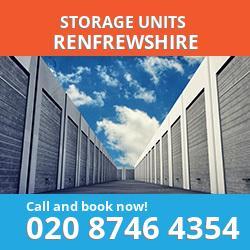 Renfrewshire  storage units PA4