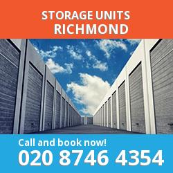 Richmond  storage units TW9