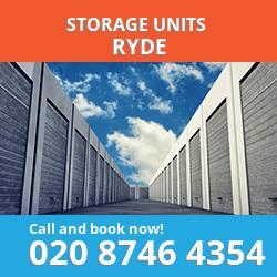 Ryde  storage units PO33